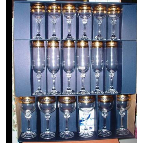 Набор бокалов 18 предметов Bohemia Julia (43081)