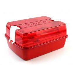 Набор для обеда контейнер +столовые приборы Herevin Maxx Red 161275-001