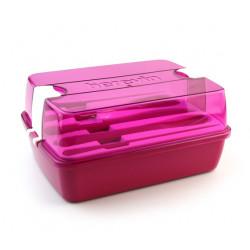 Набор для обеда контейнер +столовые приборы Herevin Maxx Pink 161275-008