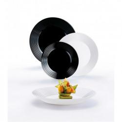 Сервиз столовый 18пр Luminarc Harena Black&White N2231