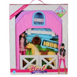 Лошадь с куклой MZT8981