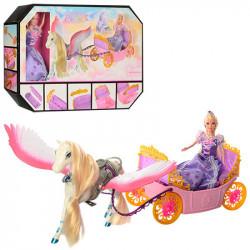 Карета с лошадью и куклой 68020
