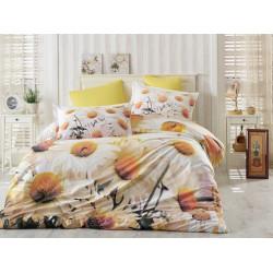 Комплект постельного белья евро Hobby 3DPoplin - Daisy