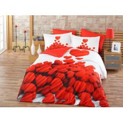 Комплект постельного белья евро Hobby 3DPoplin - Romantic
