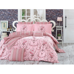 Комплект постельного белья евро Hobby Poplin - Ornella розовый