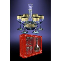 Набор для напитка 7пр декор с рисунком Версаче GE08-500/134 Гусь хрустальный