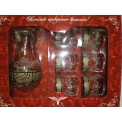 Набор для напитка 7пр декор с рисунком Мускат GE05-3944/807 Гусь хрустальный