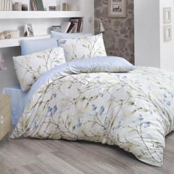 Постельное белье евро Luoca Patisca Arte Blossom голубое