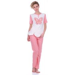 Комплект одежды Miss First Butterfly розовый XXL(футболка+штаны)