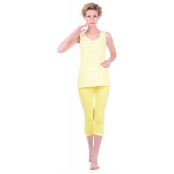 Комплект одежды Miss First Cella L желтый (майка+капри)