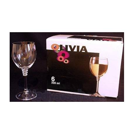 Бокалы для вина Bohemia Olivia 240мл-6шт