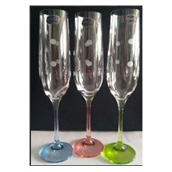 Бокалы для шампанского Bohemia Viola Rainbow 190 мл - 6шт