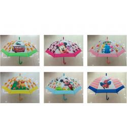 Зонт-трость с рисунком 6 видов полуавтомат SW1079P