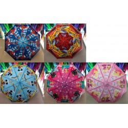 Зонт-трость с рисунком 5 видов полуавтомат CEL-002