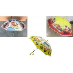 Зонт-трость с рисунком 3 вида полуавтомат SN-002