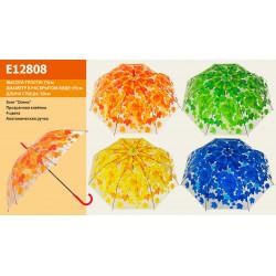 Зонт-трость с рисунком 4 вида полуавтомат E12808