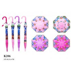 Зонт-трость с рисунком 4 вида полуавтомат K206