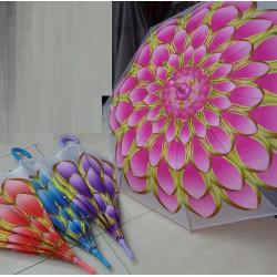 Зонт-трость цветок 4 вида полуавтомат CLG17092