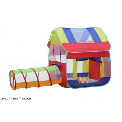 Палатка домик с трубой-переходом в сумке DT003
