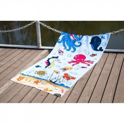 Полотенце пляжное 75х150 Lotus - Sea World велюр