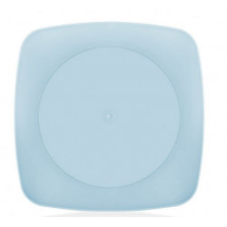 Тарелка пластиковая 23х23см Bager Clover square MIX BG-408