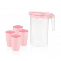 Набор для напитков пластиковый 5пр Bager Pink BG-424 P