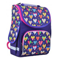 Рюкзак школьный PG-11 Hearts blue 1 Вересня 554438