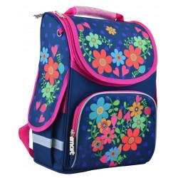 Рюкзак школьный PG-11 Flowers blue 1 Вересня 554464