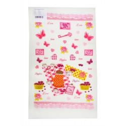 Полотенце кухонное 30х50 IzziHome - Бабочки