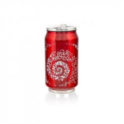 Термокружка с трубочкой 300 мл Banquet beCOOL Bubbles Красная