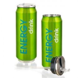 Термокружка с трубочкой 430 мл Banquet beCOOL Energy Зеленая