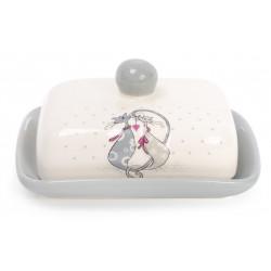 Масленка керамическая 18см Влюбленные коты Bona Di
