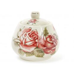 Сахарница фарфоровая 300мл Корейская роза Bona Di XX847