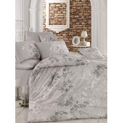 Комплект постельного белья евро LightHouse Elena серый