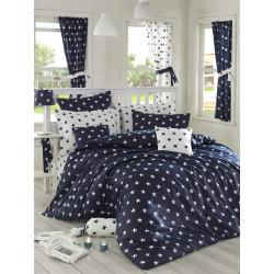 Комплект постельного белья евро LightHouse Black Night темно-синий
