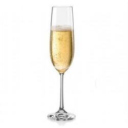 Бокалы для шампанского Bohemia Viola 190 мл -6 шт