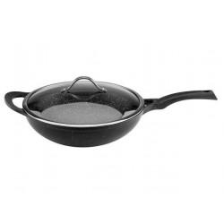 Сковорода-вок с крышкой 32cm Vinzer Premium Granite Induction 89456