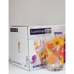 Luminarc Bubbles Flower Pink Набор стаканов высоких 270мл-6шт Е