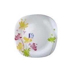 Luminarc Crazy Flowers Тарелка обеденная квадратная 26см
