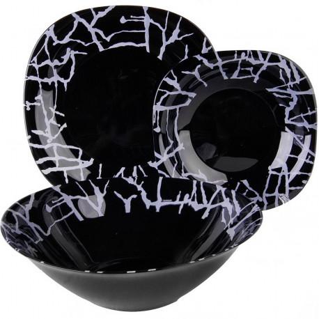 Luminarc Dripping Black Сервиз столовый 19пр G9673