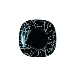Luminarc Dripping Black Тарелка глубокая квадратная 21см