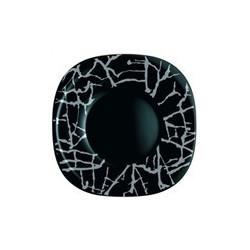 Luminarc Dripping Black Тарелка десертная квадратная 19см