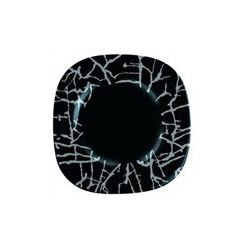 Luminarc Dripping Black Тарелка обеденная квадратная 26см