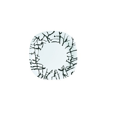 Luminarc Dripping White Тарелка обеденная квадратная 26см