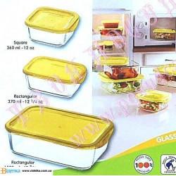 Набор емкостей для еды с желтыми крышками 3пр. Luminarc Keep'n'Box J5101