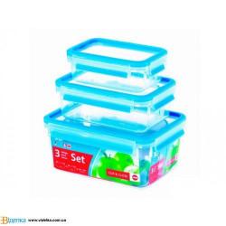 Набор контейнеров Emsa CLIP&CLOSE 3D (1л, 2,3л, 3,7л) EM 508567