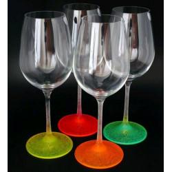 Бокалы для вина Bohemia Neon Ice 350 мл-4шт