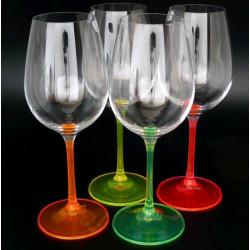 Бокалы для вина Bohemia Neon 350 мл-4шт