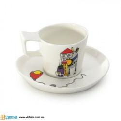 Чашка с блюдцем BergHOFF 3705022