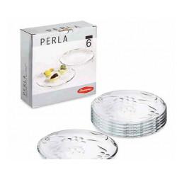 Набор тарелок 19см/6шт Perla Pasabahce 54208